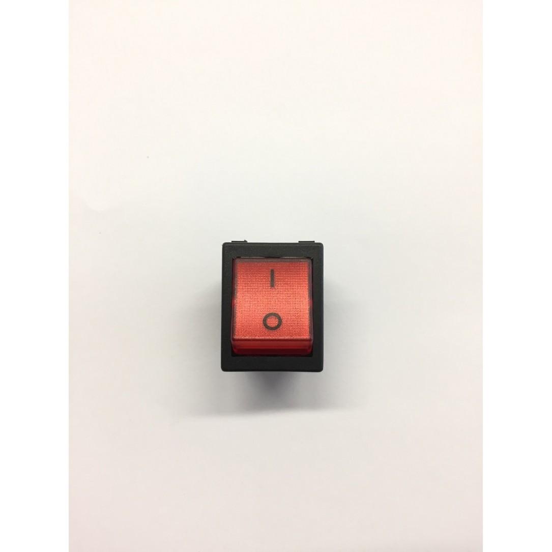 Interruttore luminoso rosso 4 faston 24 V