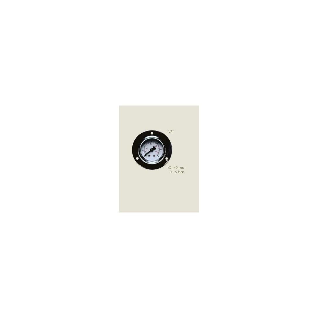 Manometro vapore diametro 40mm 3 fori 0-6 bar