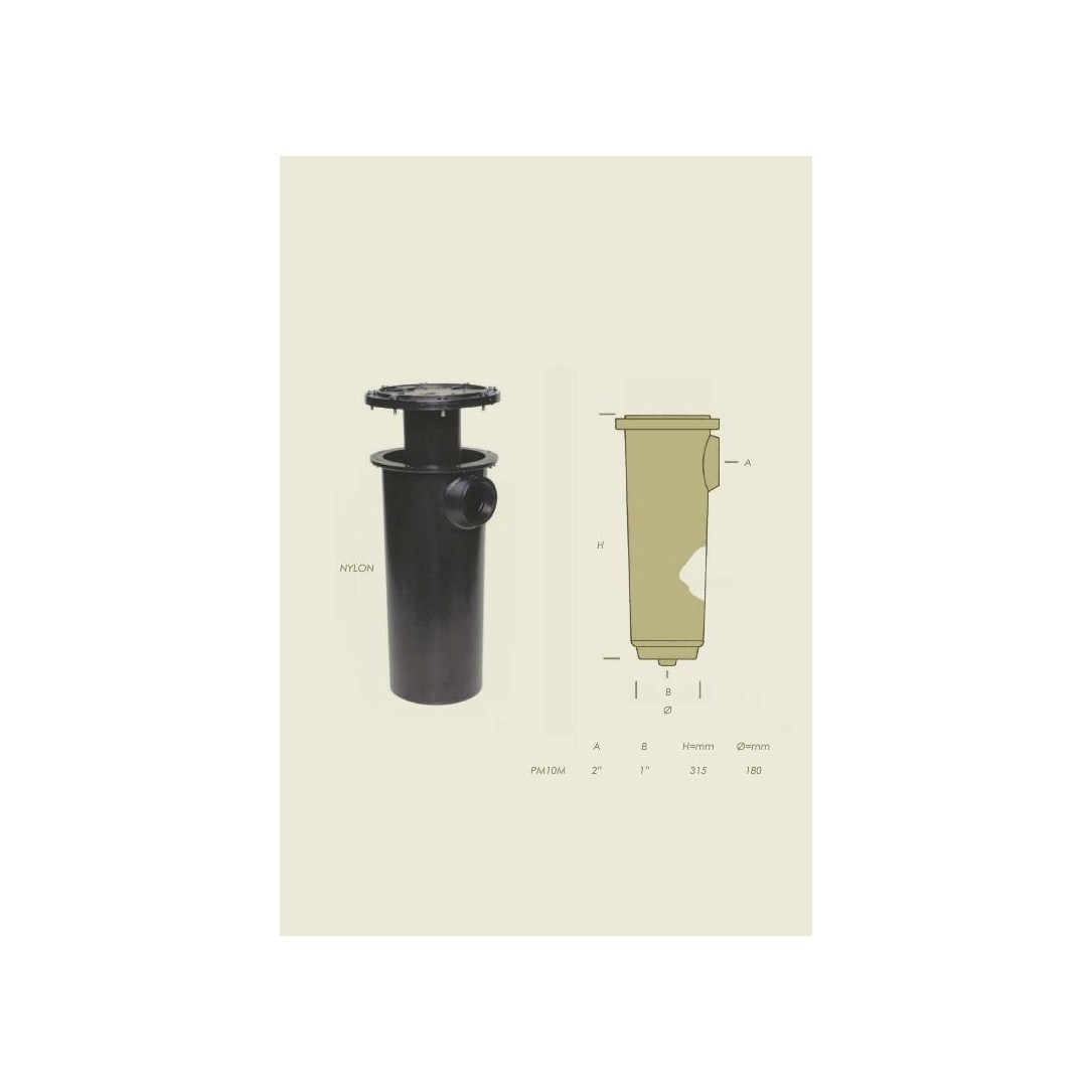 condensatore PM10 Maxi nylon con serpentina nichel