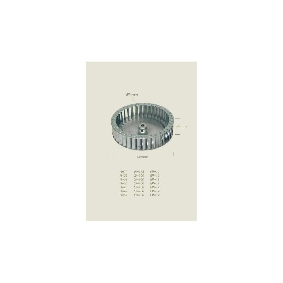 Ventola aspiratore Diametro 160mm Lunghezza 62mm foro diametro 12mm