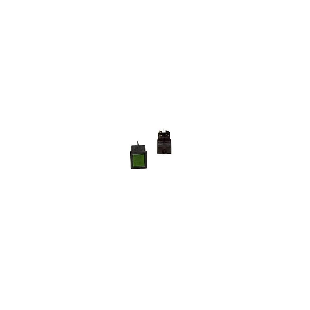 Interruttore luminoso verde 4 faston 24 V