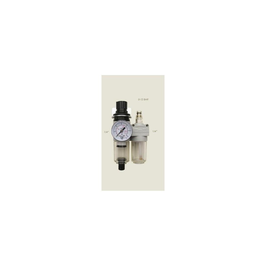 "Kit lubrificatore con manometro MKLS 08 1/4"""