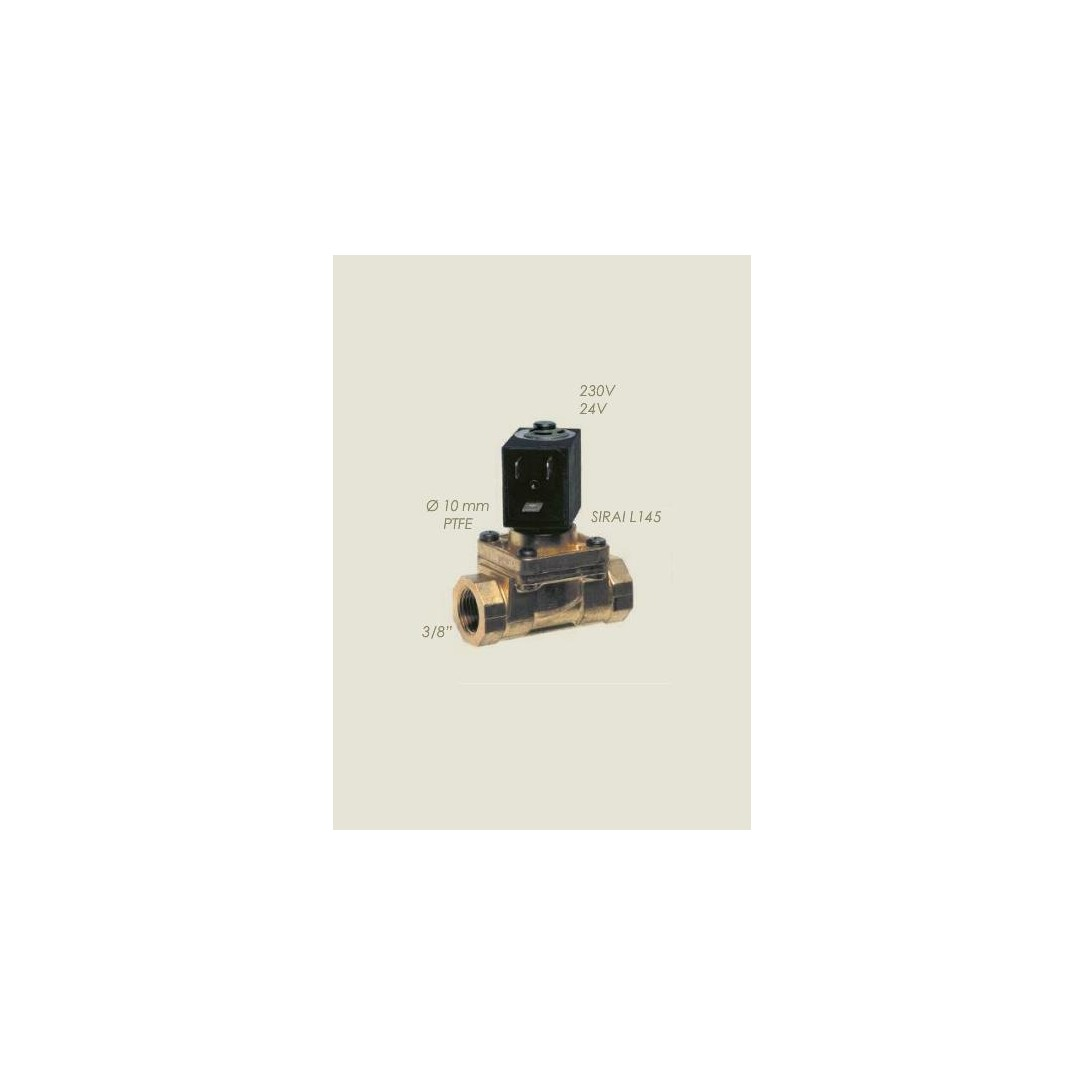 """Elettrovalvola Sirai L145 3/8""""F F vapore 220 V"""