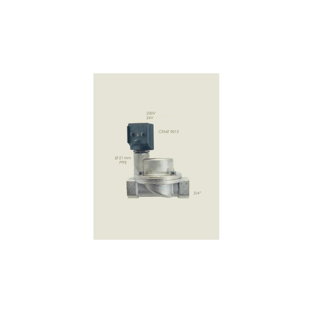 """Elettrovalvola Ceme ESV 9015 Teflon 3/4""""F F 24 V"""