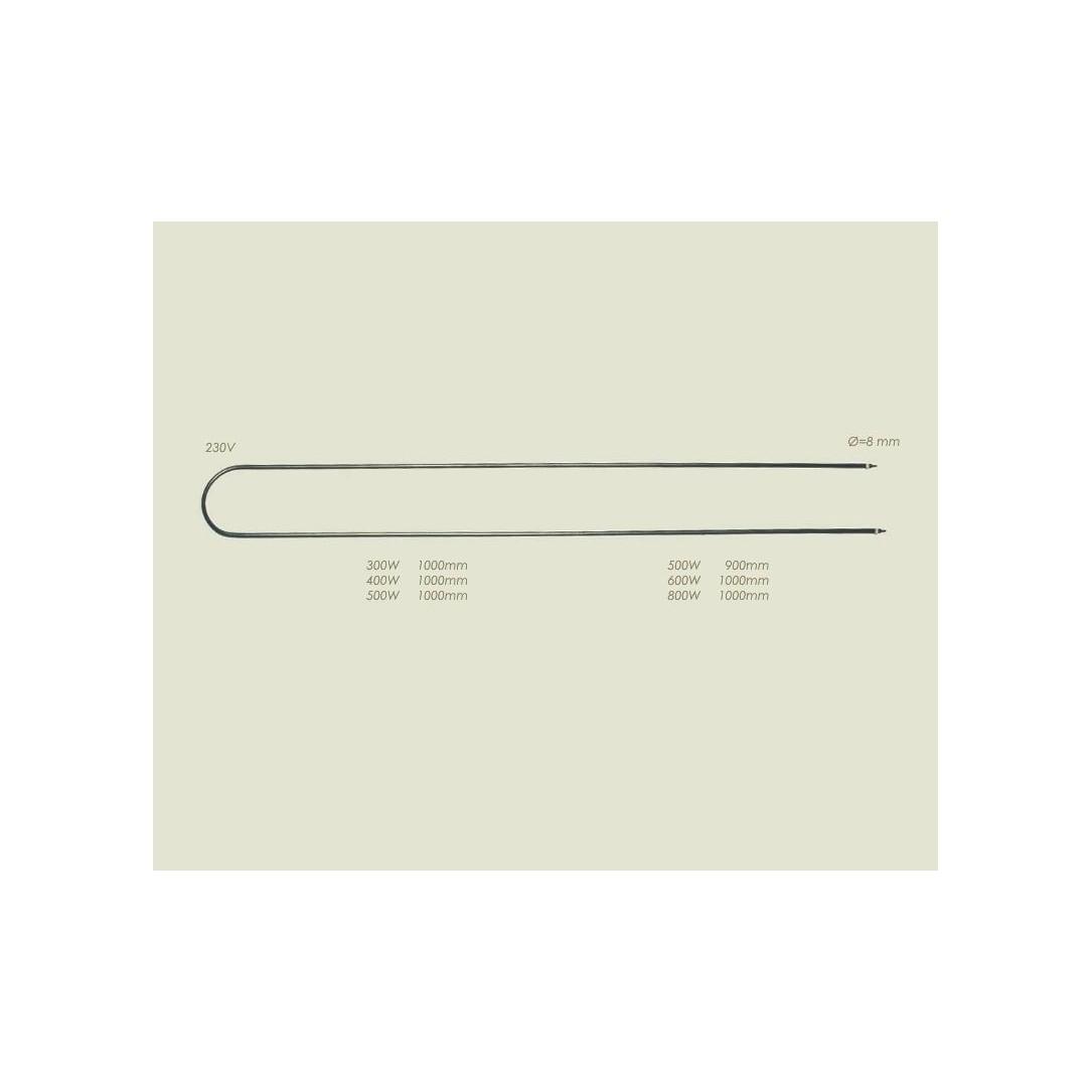 Resistenza acciaio tavolo Lunghezza 1000mm 800 W