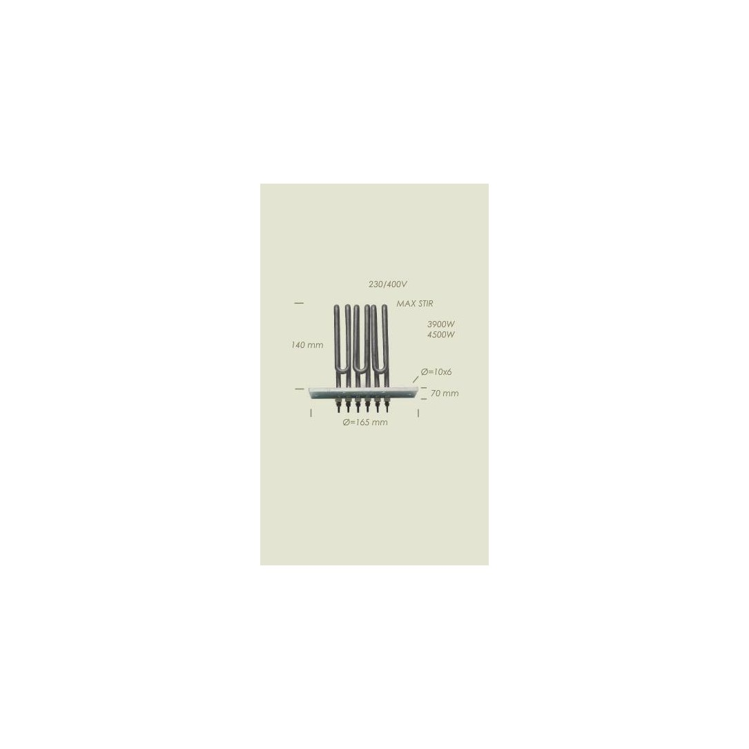 Resistenza MaxStir flangia d165x70 6fori l140