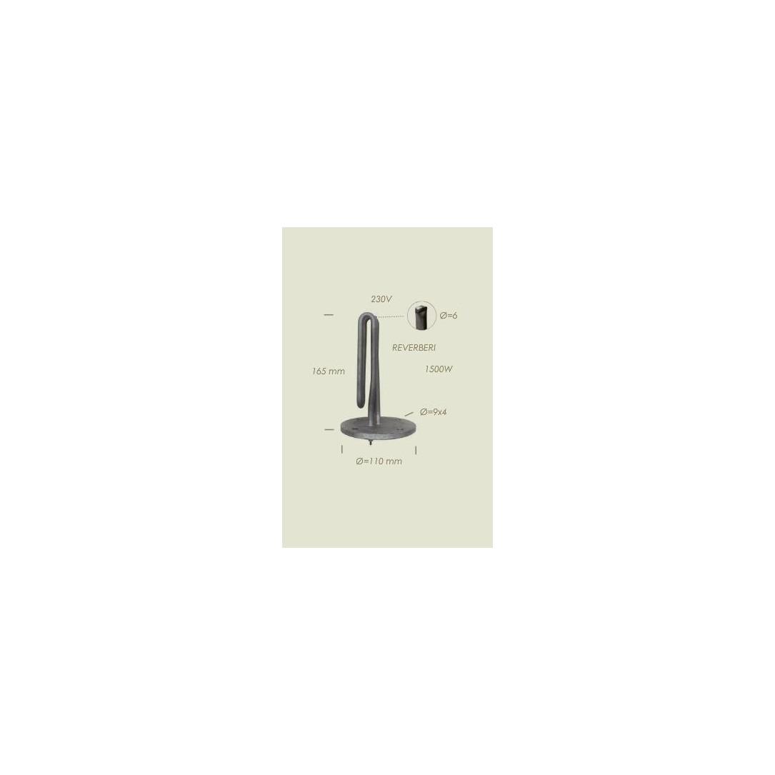 Resistenza Reverberi flangia diametro 110mm 4 fori Lunghezza 165mm1500 W