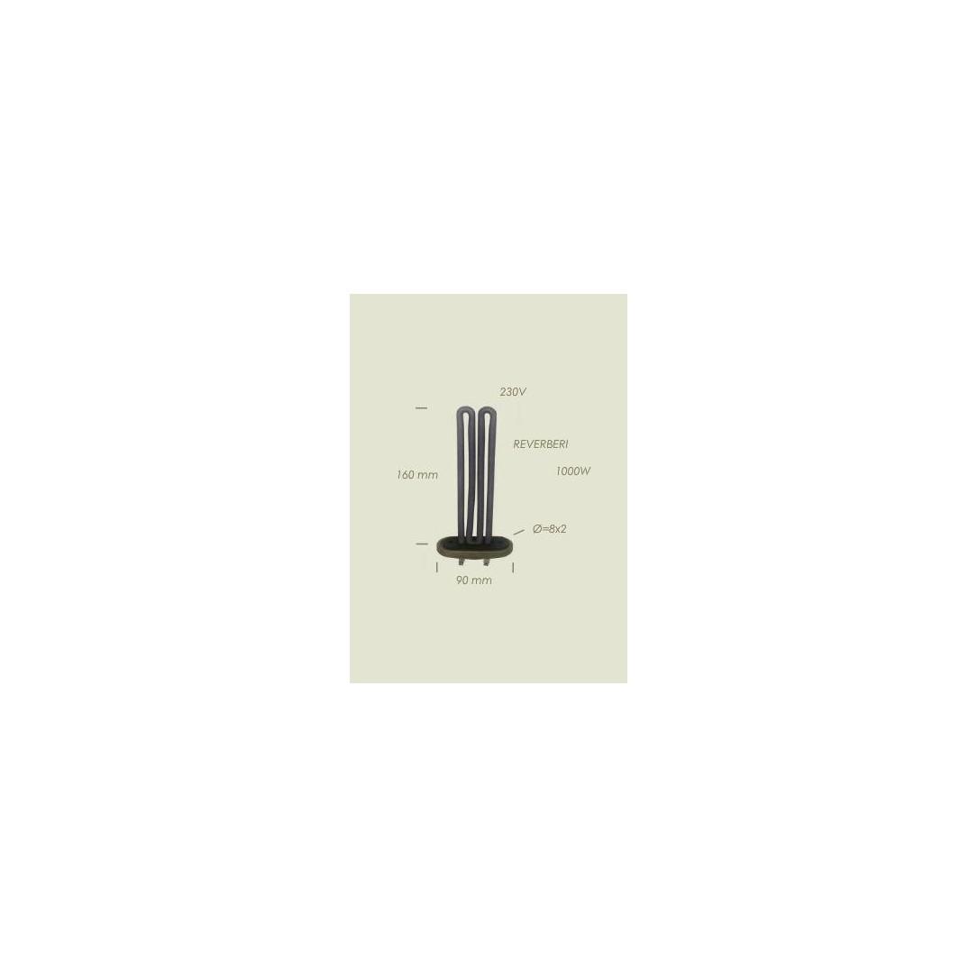 Resistenza Reverberi con flangia 2 fori Lunghezza 160mm 1000 W